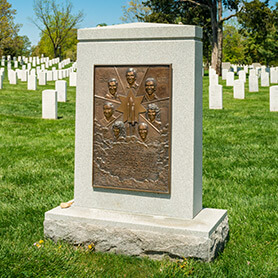 Crews of the Space Shuttles Challenger and Columbia Memorials at Arlington National Cemetery