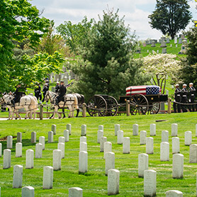 First Military Burial - Private William Christman at Arlington National Cemetery