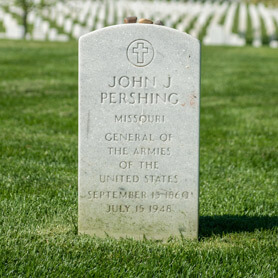 General Blackjack Pershing Gravesite at Arlington National Cemetery